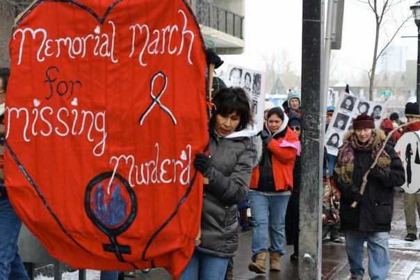 On Feb. 14, the second annual Valentine's Day Memorial March will take place in honour of thousands of missing and murdered women. Photo courtesy Memorial March of Calgary and Southern Alberta Facebook group