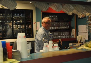 Wayne Morin tends bar at the Number 1 Legion.