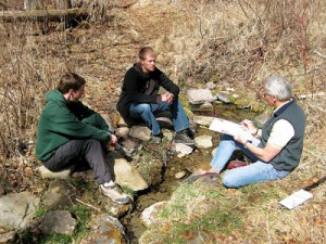 Photo courtesy of Waterlution. Colin Soskolne (right), a University of Alberta epidemiologist, was one of the participants in a Waterlution workshop at Pigeon Lake, Alta., in May 2009.