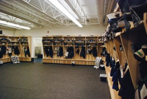 Photo by Bryce Forbes.  The Mount Royal men's and women's hockey teams enjoyed a $1.2 million dressing room overhaul and addition.