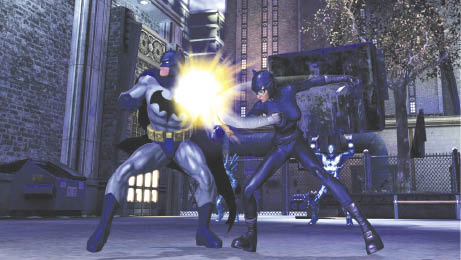 Photo courtesy of Sony Online Entertainment. Although Catwoman has a prominent role in the game and on the box art, curiously you can't work for her in the game. Guess she's too catty to get along with.