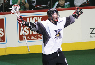Photo by Pol Nikulin  First-year forward Cory Crawford and the rest of the Calgary Roughnecks are celebrating a resurgent 2011 season.