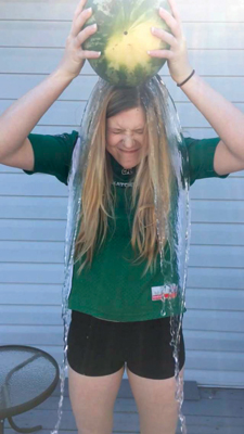Some of the Reflector staff, including Amanda Ducheminsky (pictured) have taken on the ice bucket challenge. Stay tuned on our Facebook page for videos! Photo courtesy: Amanda Ducheminsky