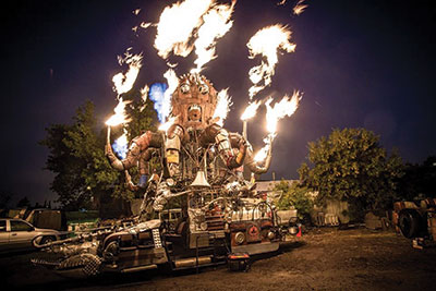 El Pulpo Mecanico, a 24 flame-spewing octopus, that was originally built for Burning Man, wrapped up Beakerhead's festivities. Photo courtesy: Facebook
