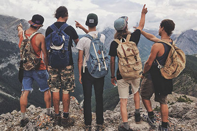 RAD packs use recycled denim to create unique backpacks, featured at Market Collective. Photo courtesy: RAD packs