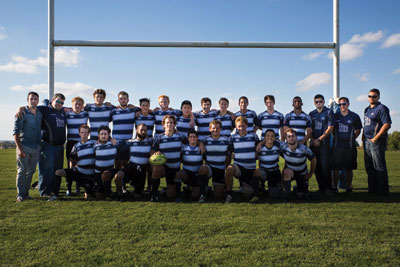 The MRU men's rugby team, pictured after their first game of the season against U of A. Photo: Claire Bourgeois