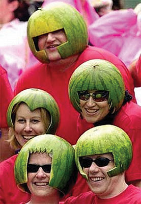 Watermelons are always in season for Roughriders fans. Photo courtesy: Facebook