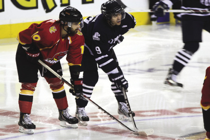 It's on! The Dinos vs Cougars legendary hockey game is back. Come out and support your school on Jan. 15 at the 'Dome. Photo: Albina Khouzina / Reflector Archives