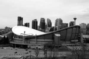 Shaped like a saddle (pringle?) at the centre of the city skyline, Calgary's Scotiabank Saddledome is causing more harm than good for the arts and entertainment scene.Photo: Kari Pedersen