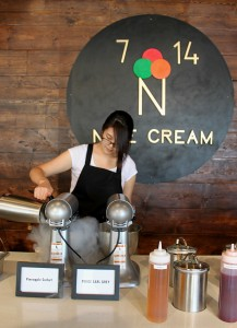 Nice Cream is the first ice cream parlour in Calgary that uses liquid nitrogen to freeze cream faster for a smoother texture (Photo by Kennedy Enns)