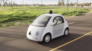 This is one of Google's (rather cute) autonomous prototypes | Photo Courtesy: Logan Krupa