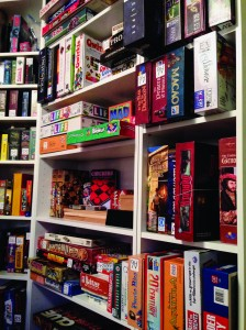"""Hundreds of games line the shelves"" 